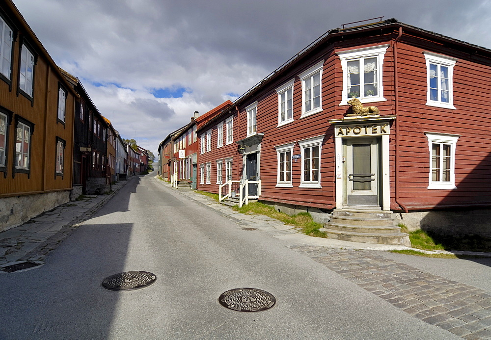 Pharmacy, Roeros, iron mining town, UNESCO World Heritage Site, Sor-Trondelag, Norway