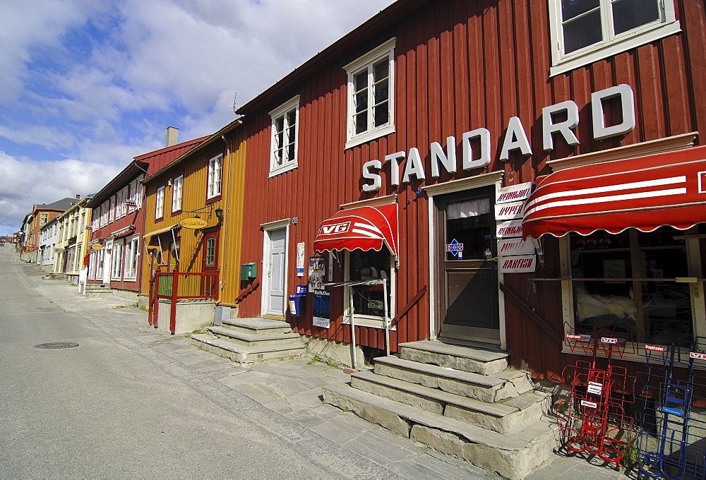 Grocery store in Roeros, iron mining town, UNESCO World Heritage Site, Sor-Trondelag, Norway