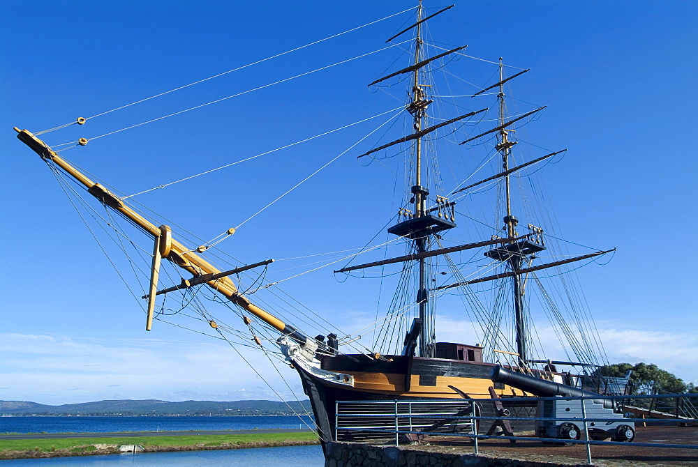 Replica of the Brig Amity sailing ship from the time of colonialization, Albany, Western Australia, Australia