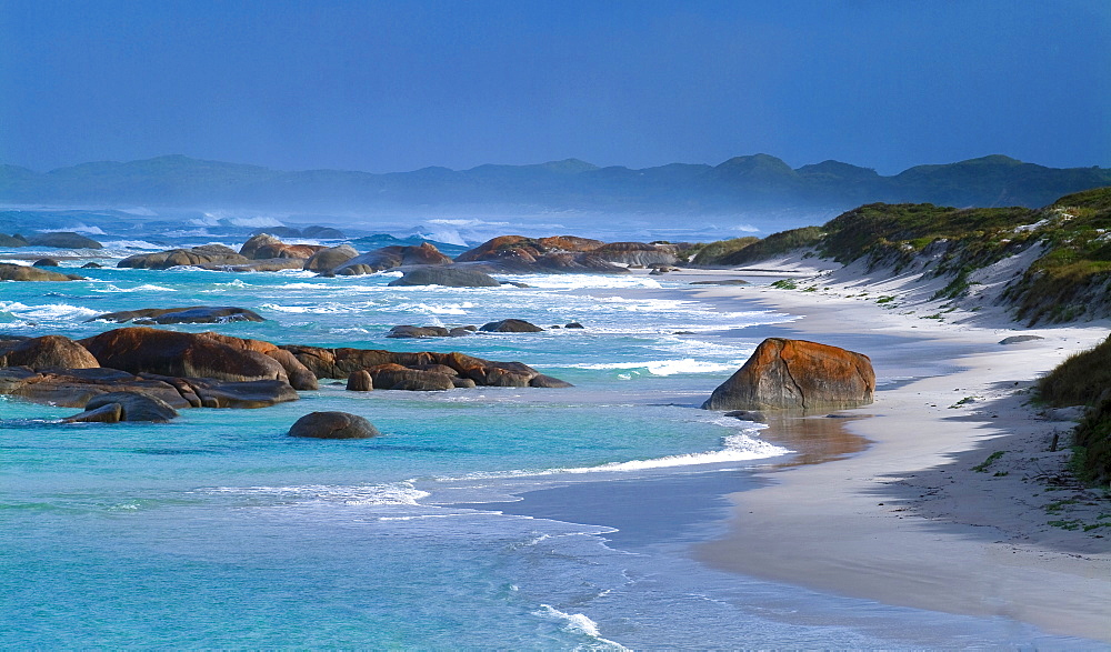 Sandy beach on the coastline near Albany, Western Australia, Australia