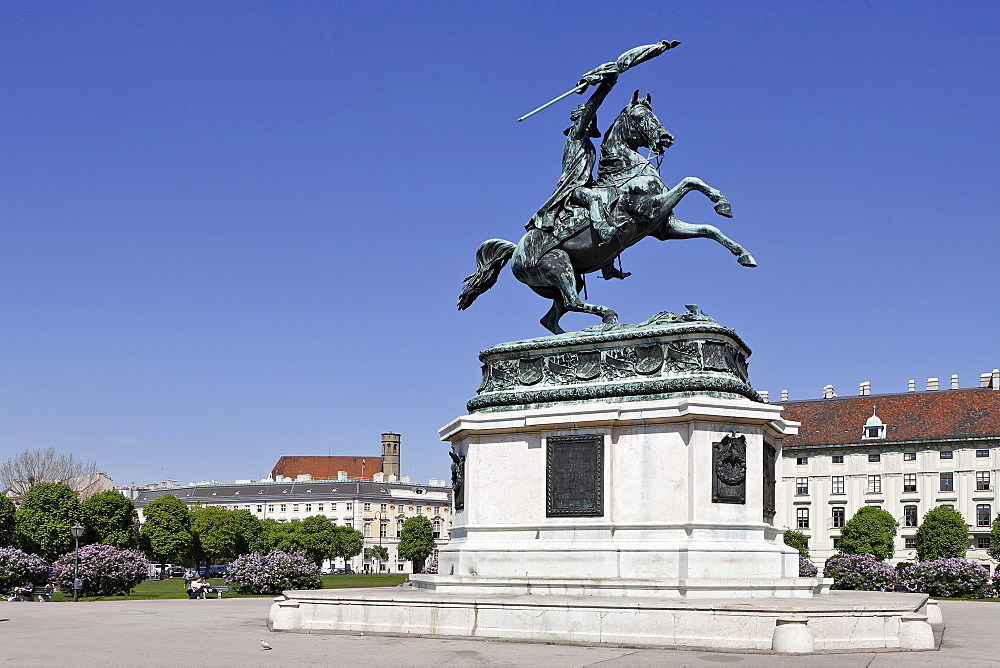 Archduke Karl Monument on the Heldenplatz (Heroes' Square), Vienna, Austria, Europe