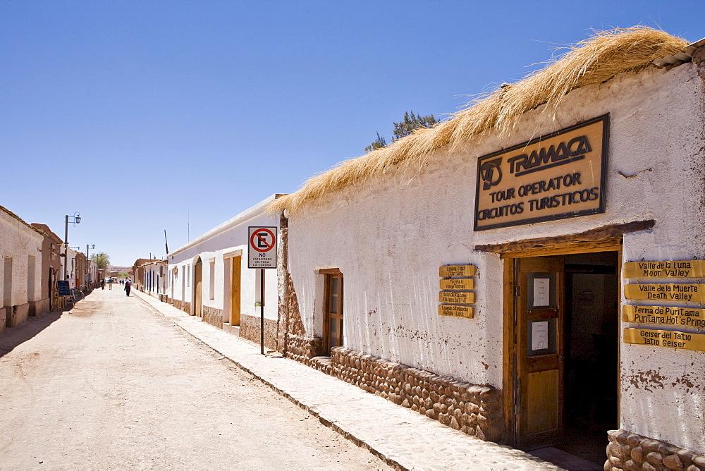 Travel agency, San Pedro de Atacama, Region de Antofagasta, Chile, South America