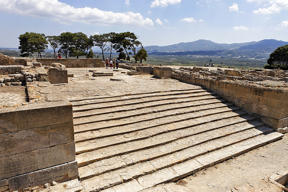 Steps, Phaistos Palace ruins from the Minoan period, Crete, Greece, Europe