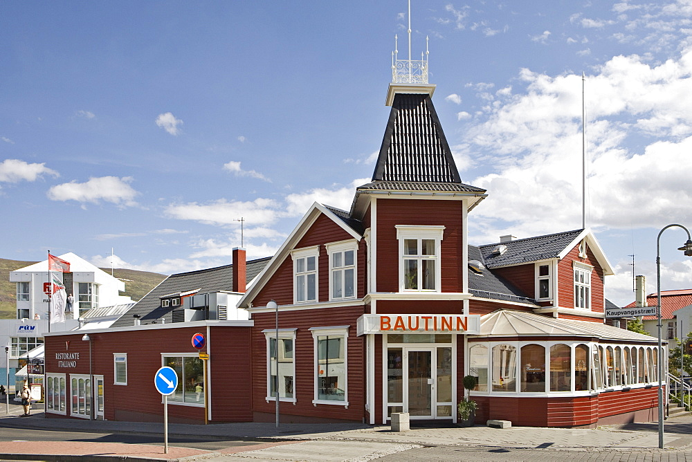 Bautinn restaurant, Akureyri, northern Iceland, Iceland, Atlantic Ocean