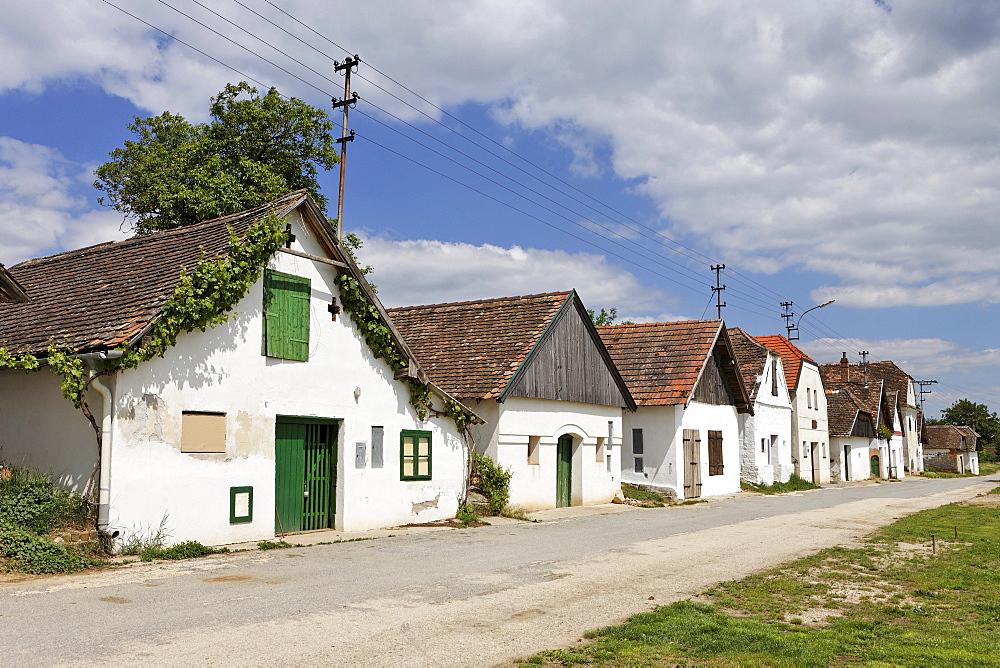 Buildings housing wine presses in Diepolz, Weinviertel (wine region), Lower Austria, Austria, Europe