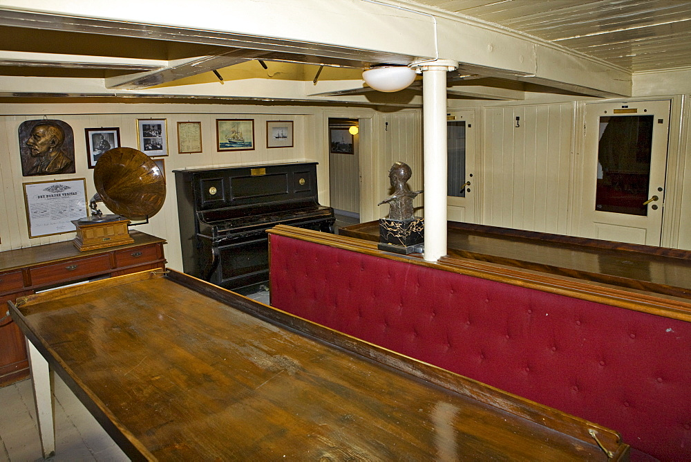Cabin aboard Fram ship at Fram Museum on Bygdoy Peninsula, Oslo, Norway, Scandinavia, Europe