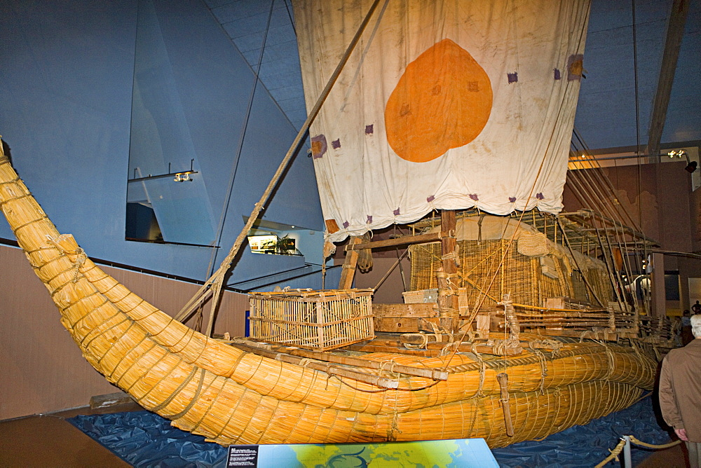 "The ""Ra"" at the Kon-Tiki Museum on Bygdoy Peninsula, Oslo, Norway, Scandinavia, Europe"