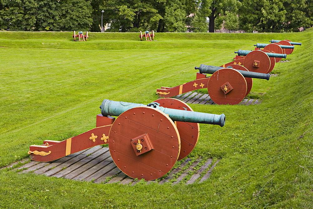 Cannons, Akershus Festning (Akershus Fortress), Oslo, Norway, Scandinavia, Europe