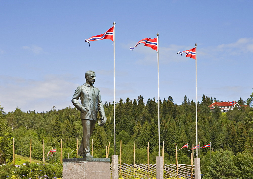 Fritjof Nansen Memorial, Norwegian explorer and scientist, Holmenkollen, Oslo, Norway, Scandinavia, Europe