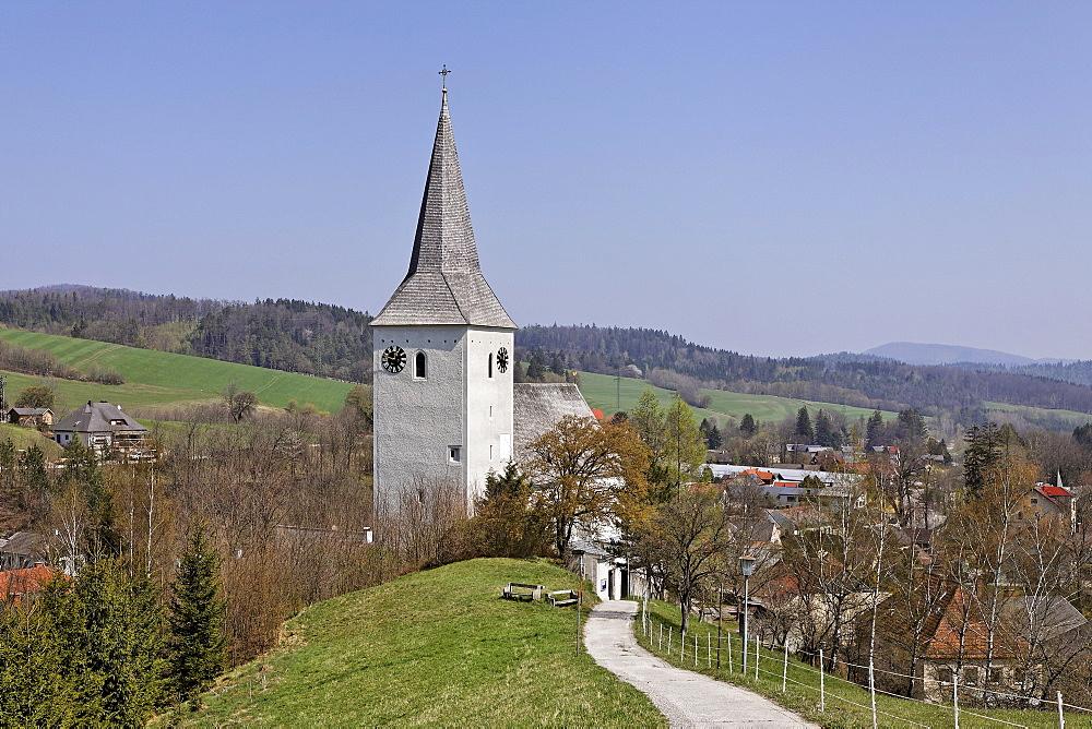 Fortified church dating to 1502, Kaumberg, Triesingtal (Triesing Valley), Lower Austria, Austria, Europe