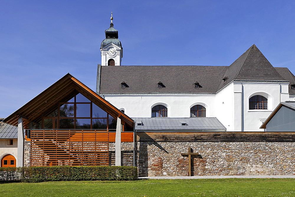 Exterior view of the Mariazell Cloister in Klein-Mariazell, Triesingtal (Triesing Valley), Lower Austria, Austria, Europe