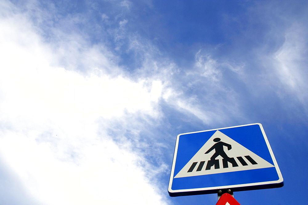 Pedestrian crossing into the sky