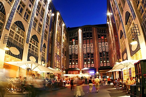 Hackescher Markt at night, Berlin, Germany