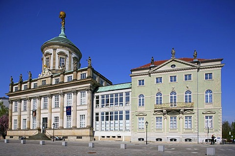 Old Town Hall on the Old Market Square, Potsdam, Brandenburg, Germany, Europe