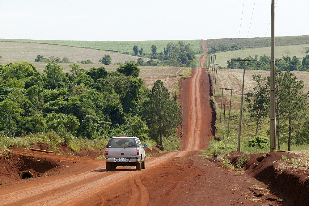 Country road through the Gran Chaco, Paraguay South America
