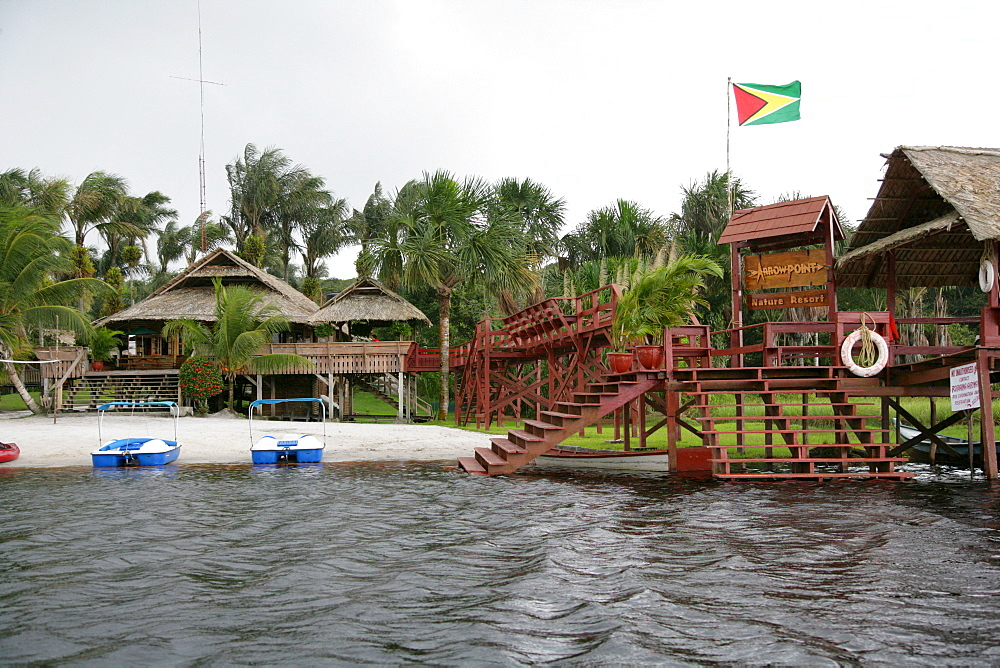 Boat docking area, Santa Mission, Guyana, South America