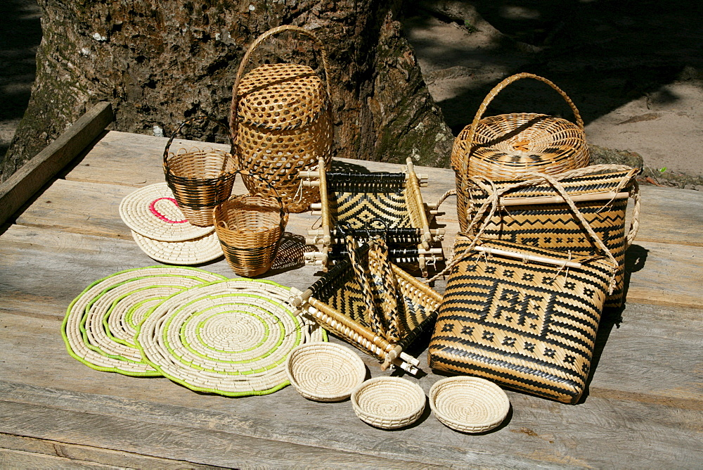 Arawak tribe woven handicrafts, Santa Mission, Guyana, South America