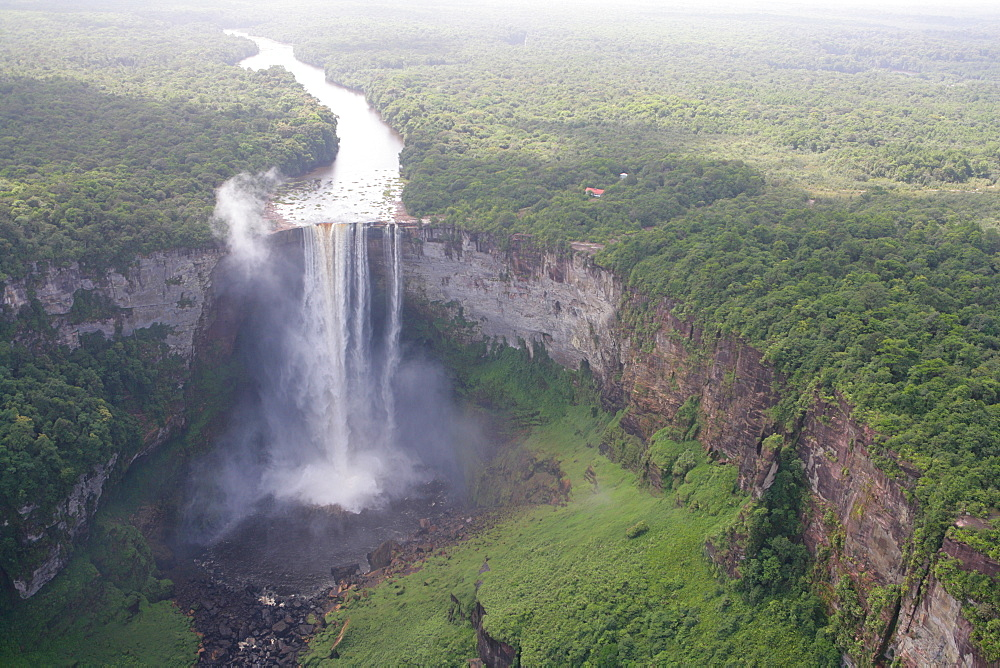 Aerial shot, Kaieteur Waterfalls, Potaro National Park, Guyana, South America