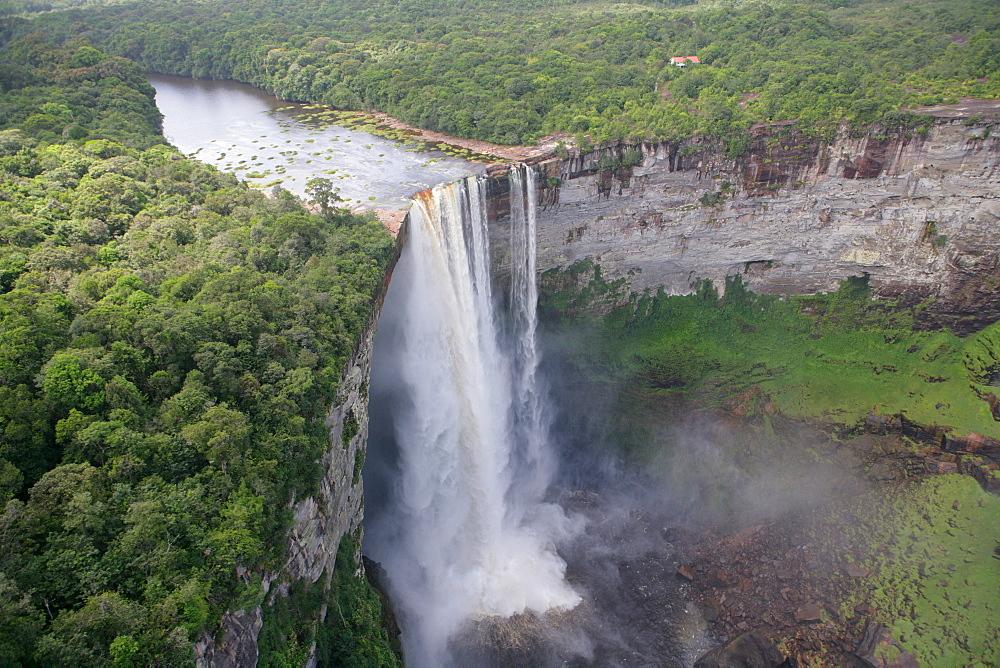 Aerial shot, Kaieteur Waterfalls, Potaro National Park, Guyana, South America