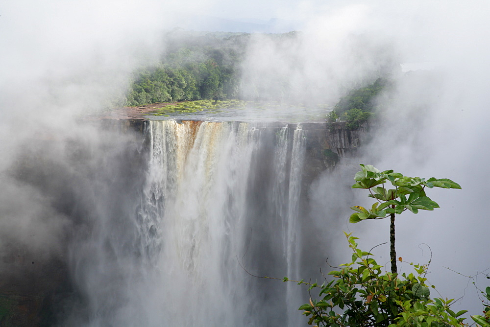 After tropical rains, Kaieteur Waterfalls, Potaro National Park, Guyana, South America