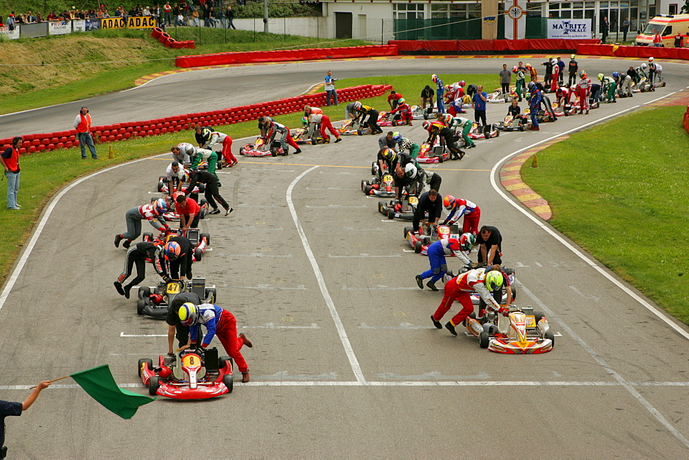 German Kartracing Championships, Kart track in Ampfing, Upper Bavaria, Bavaria, Germany, Europe
