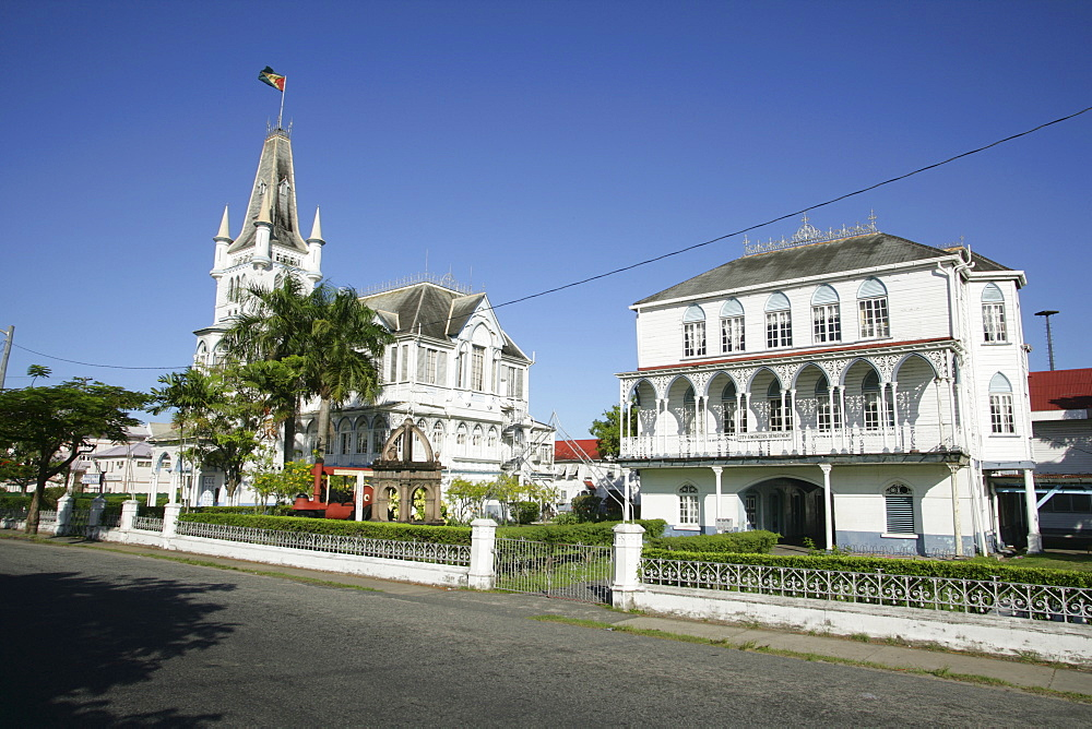 Colonial style city hall, Georgetown, Guyana, South America