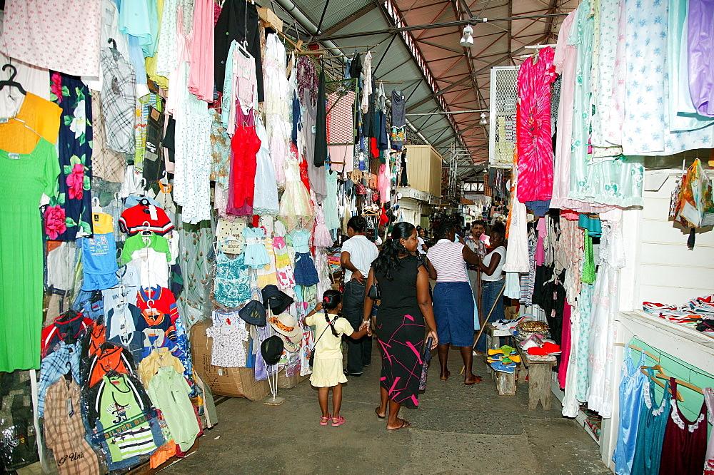 Stabroek indoor market in Georgetown, Guyana, South America