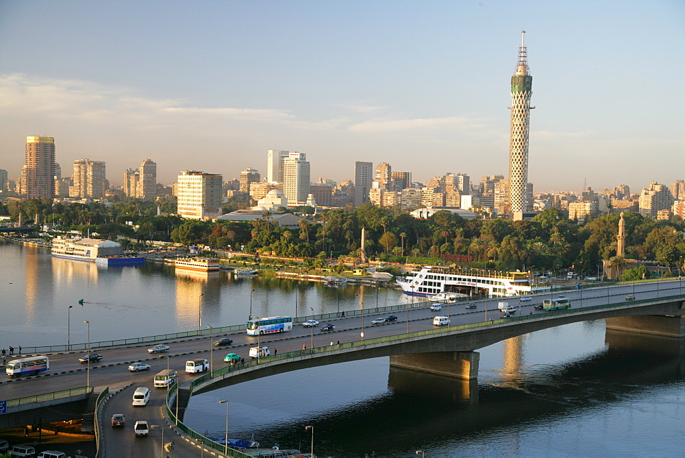 Bridge over the Nile in Cairo, Egypt, North Africa, Africa