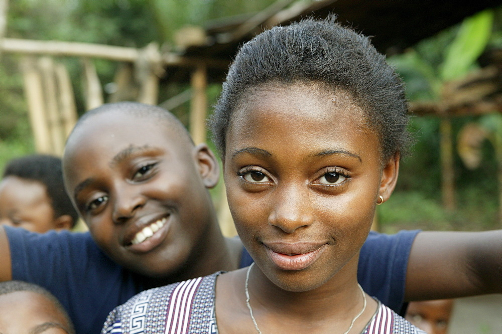 Girls, portrait, Cameroon, Africa