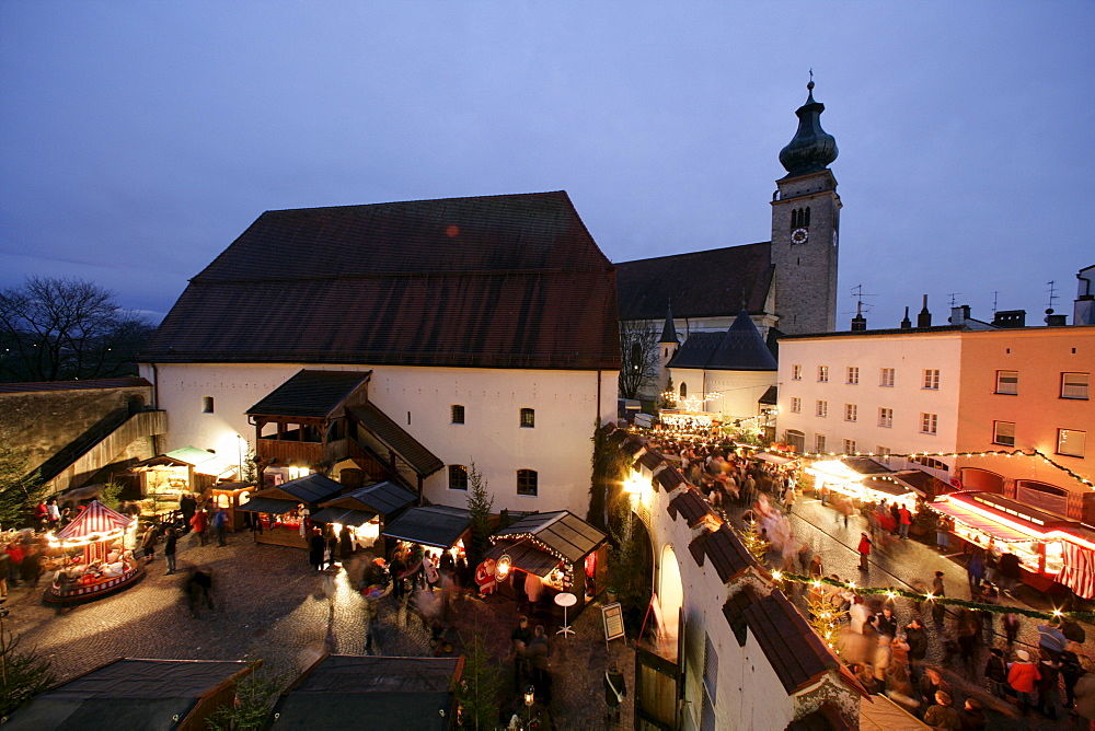 Christmas market, Muehldorf am Inn, Upper Bavaria, Bavaria, Germany, Europe