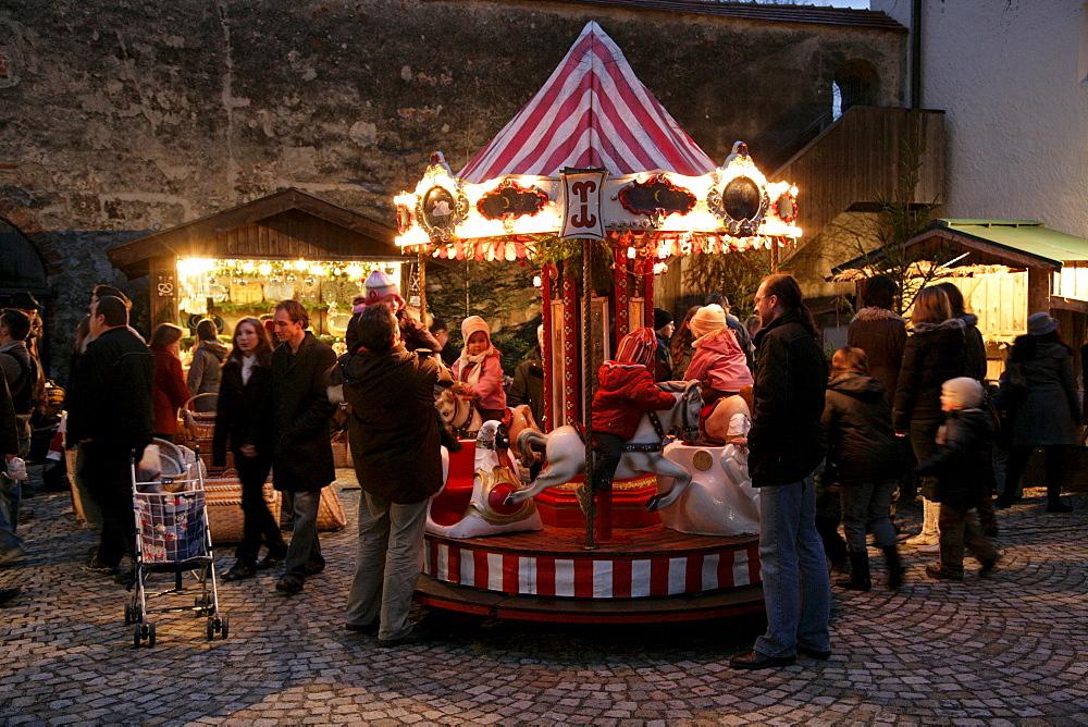 Christkindlmarkt, Christmas market, Muehldorf am Inn, Upper Bavaria, Germany, Europe