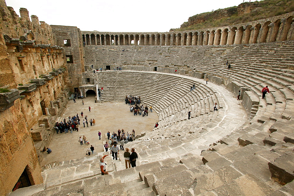 Tiers, Roman theatre, Aspendos, southern Turkey, Asia