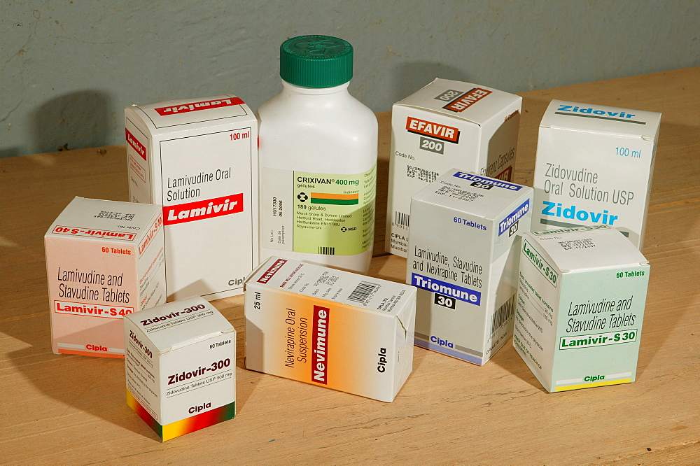 Retroviral medication, HIV/AIDS blockers, medication, Garoua, Cameroon, Africa