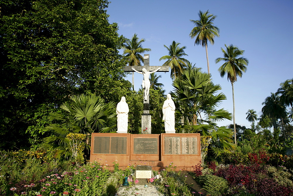 Commemorative cemetery for monks and nuns murdered in WWII, Alexishafen, Madang, Papua New Guinea, Melanesia