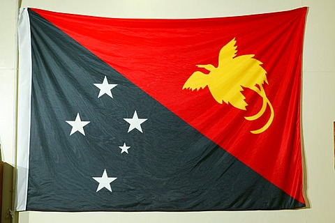 National flag, Port Moresby, Papua New Guinea, Melanesia