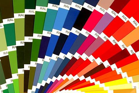 RAL colour fan