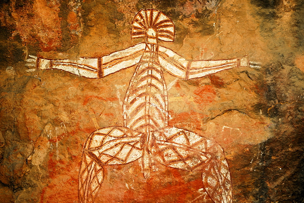 Aboriginal rock painting (Nabulwinjbulwinj) at Nourlangie Rock, Kakadu National Park, Australia