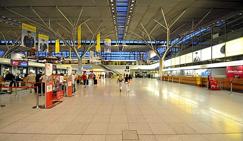 Check-in counters, Stuttgart Airport, Baden-Wuerttemberg, Germany, Europe