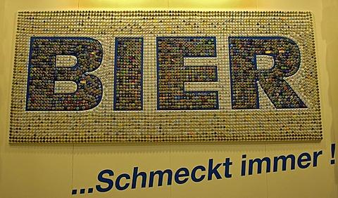 Beer always tasts good, made out of crown cap, berlin germany
