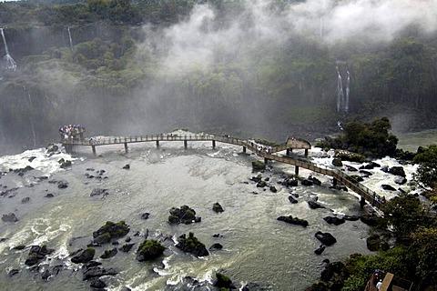 Iguacu, waterfalls, the largest waterfalls of the world, bridge for spectators, brasil