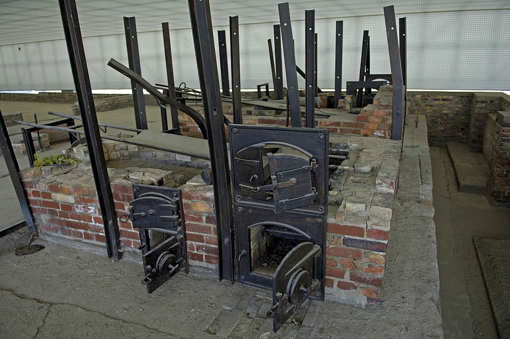 Crematory in concentration camp sachsenhausen, germany