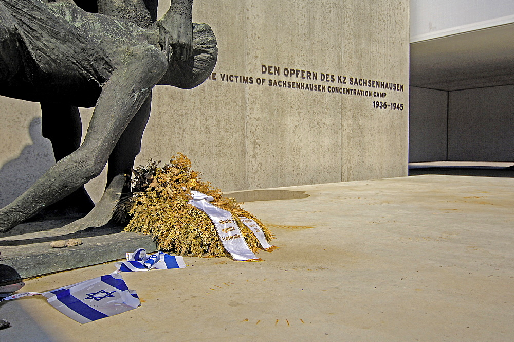 Memorial in concentration camp sachsenhausen, germany