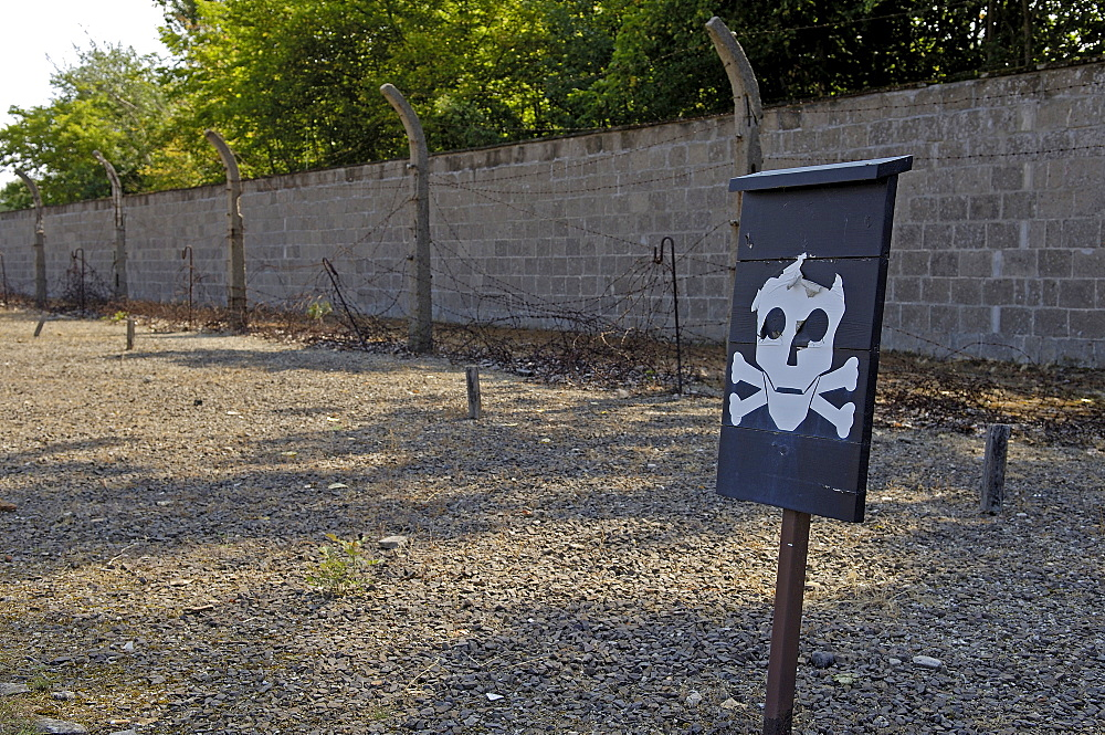 Border line ofconcentration camp sachsenhausen, germany