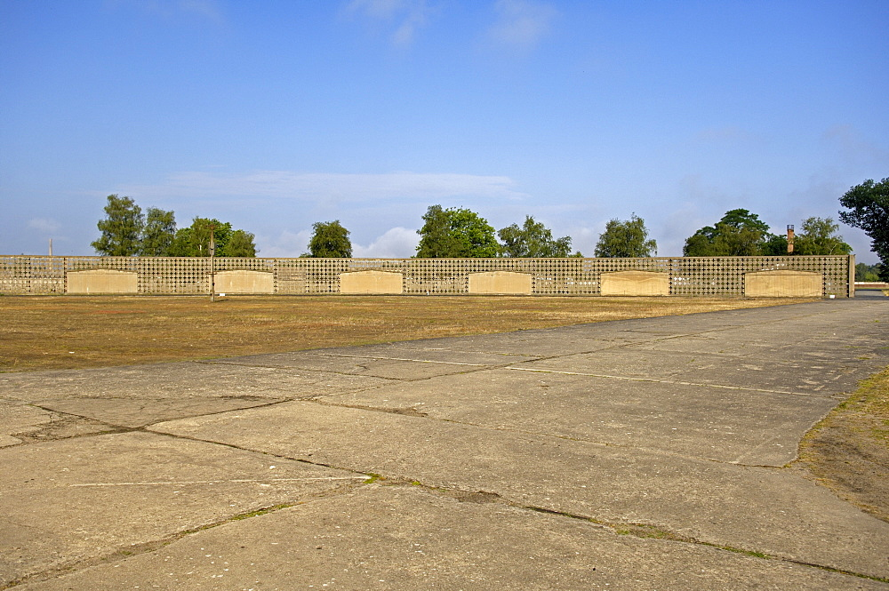 Meeting place in concentration camp sachsenhausen, germany