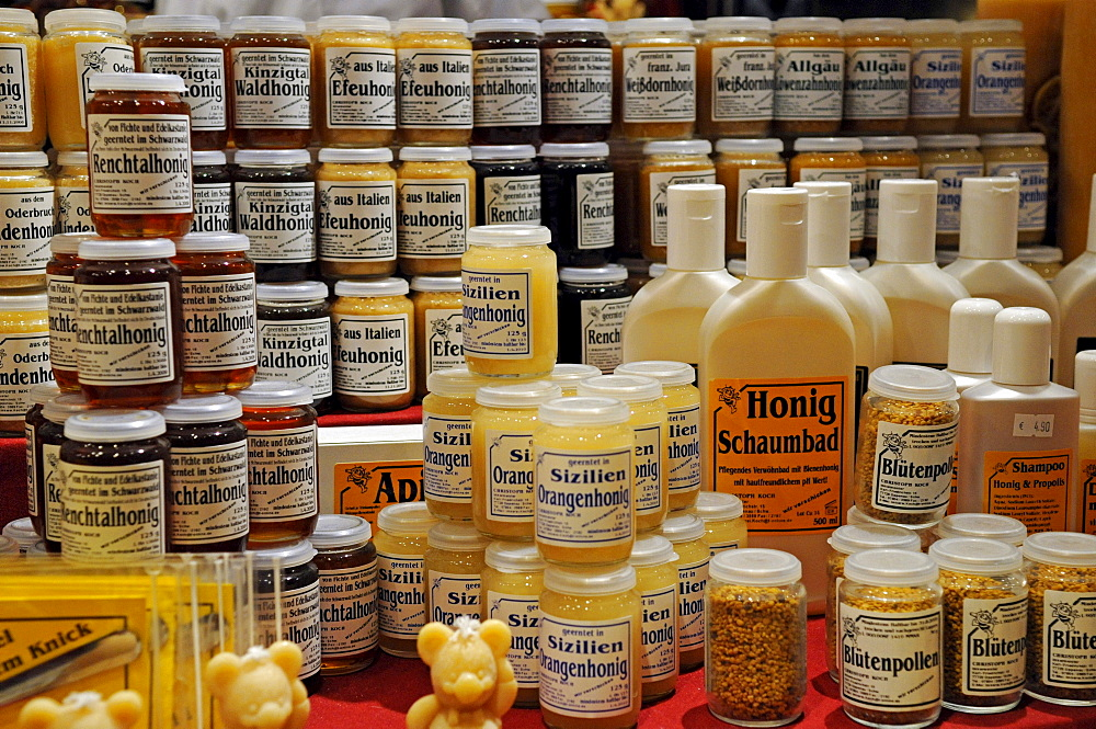Different kinds of honeymade products