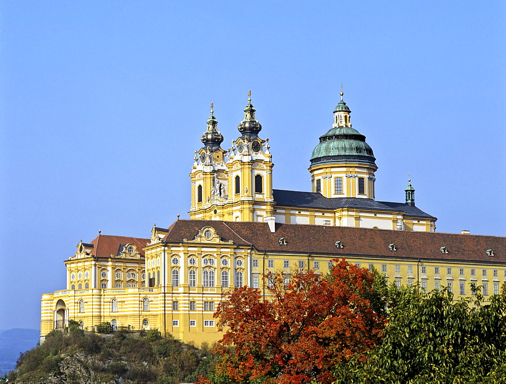 Stiftskirche Melk (church), Danube, Lower Austria, Austria, Europe