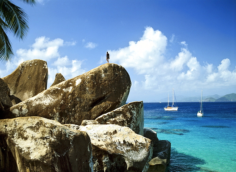 Rock formation, Virgin Gorda, British Virgin Islands, Lesser Antilles, Caribbean