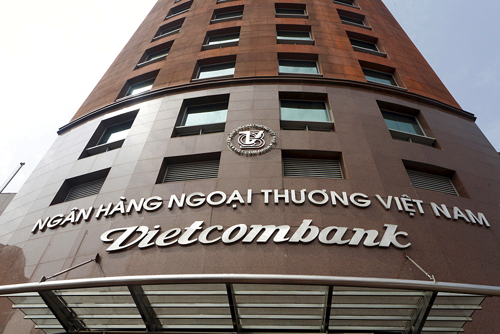 Building of the Vietcombank, Hanoi, Vietnam, Asia