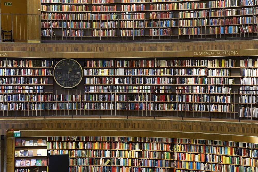 Interior, State Library, Stockholm, Sweden, Scandinavia, Europe