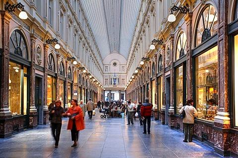 Shopping mall Galeries Royales Saint-Hubert, Brussels, Belgium